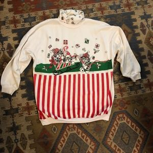 Vintage Cat Ugly Christmas Sweater size 24